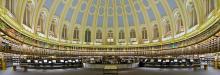 Знаменитый читальный зал Британского музея (использовался библиотекой до 1997 года)